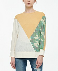 Juniors' Colorblock Dolman-Sleeve Top