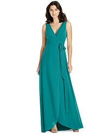 A-Line Wrap Gown