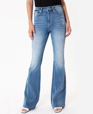 Kancan Women's High Rise Flare Jeans