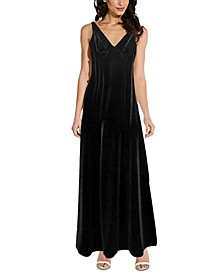 Velvet Sleeveless Gown