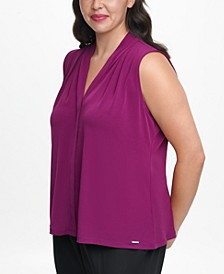 Plus-Size V-Neck Top