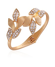 Women's Fashionable Florals Hinged Bracelet