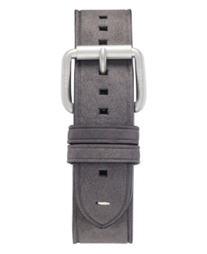 Men's Gray Genuine Leather Strap