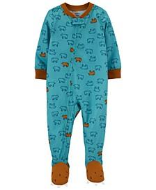 Toddler Boy 1-Piece Loose Fit Footie PJs