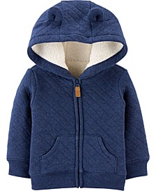 Baby Boy  Hooded Sherpa-Lined Jacket