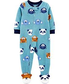Baby Boy  1-Piece Animal Fleece Footie PJs