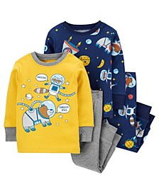 Baby Boy  4-Piece Space Snug Fit Cotton PJs