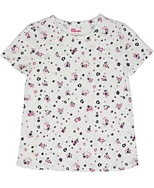 Toddler Girls Short Sleeve All Over Floral Print Basic Tee