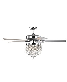 "Jay 52"" 3-Light Indoor Remote Controlled Ceiling Fan with Light Kit"