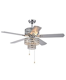 """Chow 52"""" 6-Light Indoor Hand Pull Chain Ceiling Fan with Light Kit"""