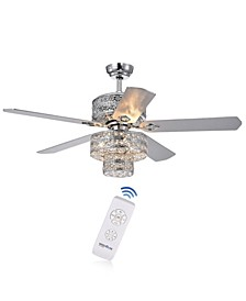 "Empire 52"" 6-Light Indoor Remote Controlled Ceiling Fan with Light Kit"