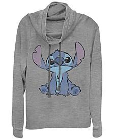 Women's Disney Lilo Stitch Simply Stitch Fleece Cowl Neck Sweatshirt