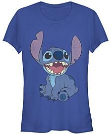 Women's Disney Lilo Stitch Basic Happy Stitch Short Sleeve T-shirt