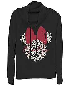 Women's Disney Mickey Classic Floral Minnie Fleece Cowl Neck Sweatshirt