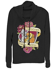 Women's Lady and the Tramp Tattoo Fleece Cowl Neck Sweatshirt