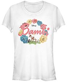 Women's Bambi Flowers Short Sleeve T-shirt