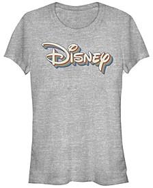 Women's Disney Logo Disney Retro Rainbow Short Sleeve T-shirt