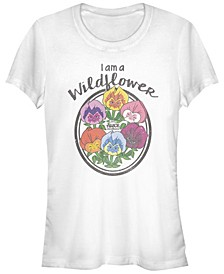 Women's Alice in Wonderland Wildflower Short Sleeve T-shirt