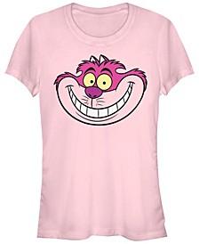 Women's Alice in Wonderland Cheshire Big Face Short Sleeve T-shirt