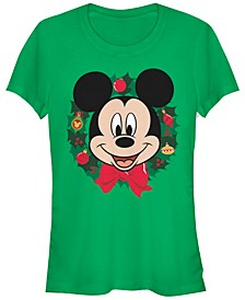 Women's Disney Mickey Classic Big Mickey Holiday Short Sleeve T-shirt