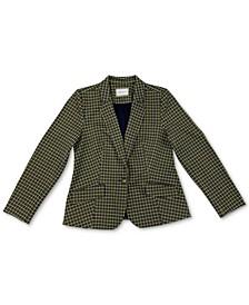 Petite Plaid Knit Blazer, Created for Macy's
