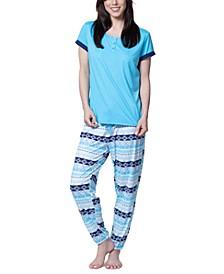 Henley & Jogger Pajama Set