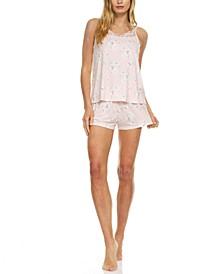 Justine Floral-Print Cami & Tap Shorts Sleep Set
