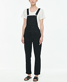 Juniors' Ripped Denim Overalls