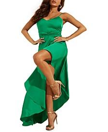 Kaia Asymmetrical-Hem Dress