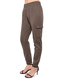 Juniors' Cargo-Pocket Jogger Sweatpants