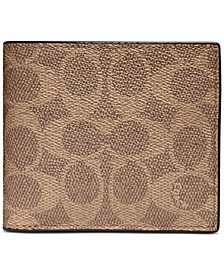 Men's Signature Coin-Pocket Wallet