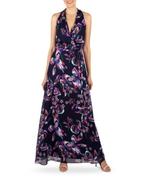 Donna Ricco HALTER MAXI DRESS & SHRUG JACKET