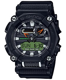 Men's Analog-Digital Black Reflective Resin Strap Watch 49.5mm