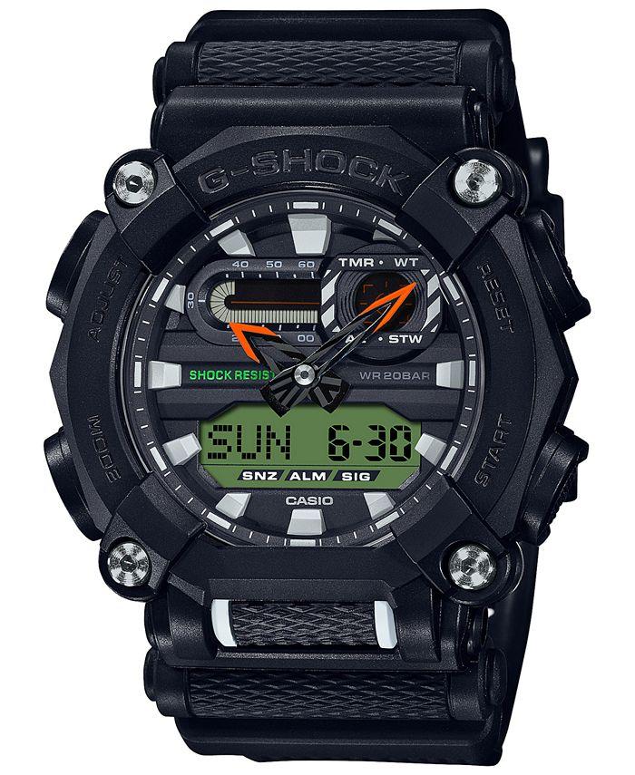 G-Shock - Men's Analog-Digital Black Reflective Resin Strap Watch 49.5mm