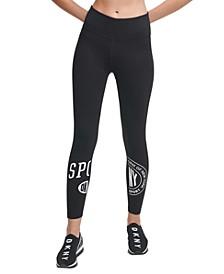 Sport Split-Logo High-Waist Leggings