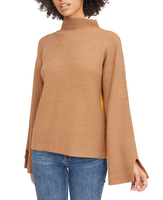 Lucy Paris Willow Mock Neck Knit Sweater