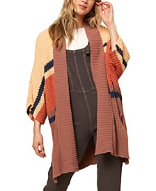 Juniors' Capecod Cotton Oversized Cardigan