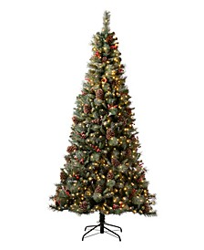 Pre-Lit Green Pine Artificial Christmas Tree with 700 Warm Lights