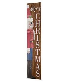 Wooden Christmas Nutcracker Porch Sign