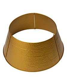 Golden Hammered Metal Tree Collar