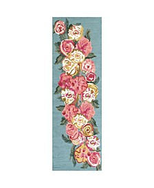 """Rose Bouquet 2'6"""" x 8' Runner Rug"""
