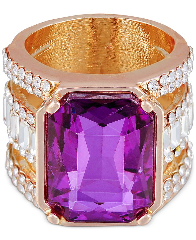 GUESS Large Crystal Statement Ring