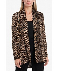 Women's Open Front Printed Cardigan