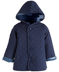 Baby Boys Camo Quilted Jacket, Created for Macy's