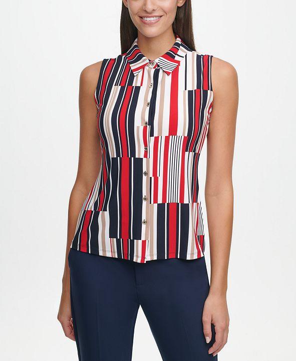 Tommy Hilfiger Striped Sleeveless Shirt