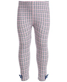 Baby Girls Multi Plaid Bow Legging, Created for Macy's