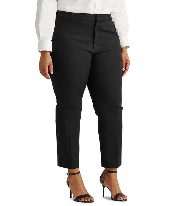 Lauren Ralph Lauren Plus Size Stretch-Infused Pants