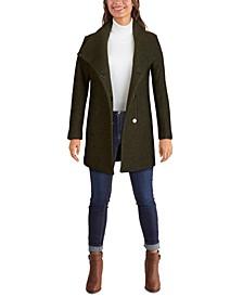 Asymmetrical Bouclé Walker Coat