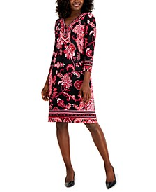 Petite Y-Neck Dress, Created for Macy's