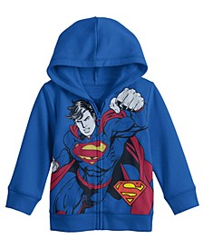 Superman Costume Big Boys Hoodie with Sound Chip